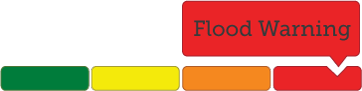 example of multi colour image highlighting Flood Warning