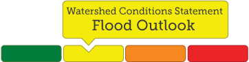 example of multi colour image highlighting Flood Outlook