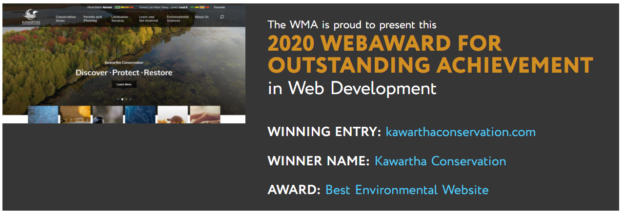 WebAward 2020 Environmental Website Winner